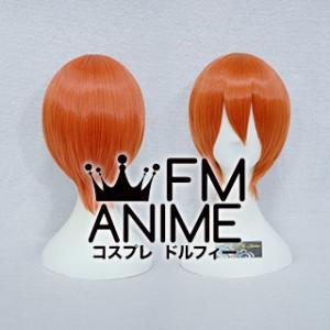 Short Straight Mixed Smoky Orange Cosplay Wig