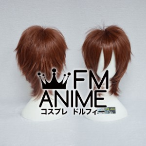 Short Spike Style Reddish Brown Cosplay Wig