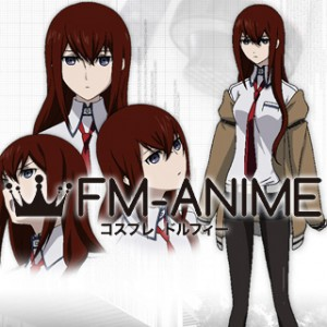 Steins;Gate Makise Kurisu Cosplay Costume