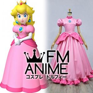 Super Mario Princess Peach Pink Dress Cosplay Costume