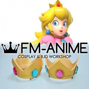 Super Mario Princess Peach Gold Crown Cosplay Accessory Prop