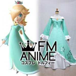 Super Mario Princess Rosalina Green Dress Cosplay Costume