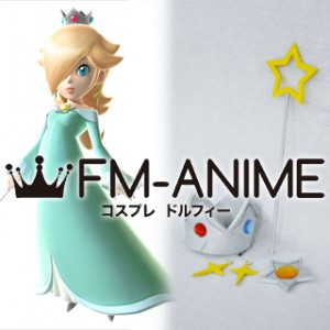 Super Mario Princess Rosalina Cosplay Accessories Set Star Staff Earrings Crown