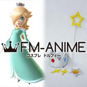 Super Mario Princess Rosalina Cosplay Accessories Set Star Staff Earrings Crown