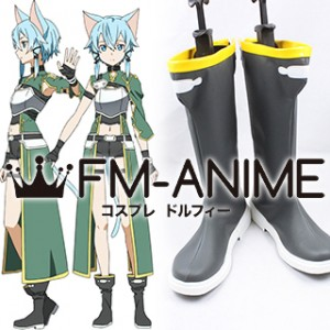 Sword Art Online 2 Asada Shino (ALfheim Online, ALO) Cosplay Shoes Boots