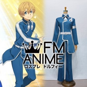 Sword Art Online Alicization Eugeo Blue Cosplay Costume (Female M)