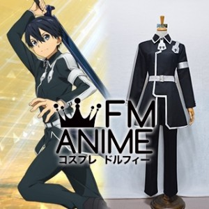 Sword Art Online Alicization Kirito Kazuto Kirigaya Black Cosplay Costume (Female M)