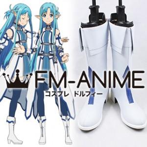 Sword Art Online Asuna Yuuki (Alfheim Online, ALO) Blue Cosplay Shoes Boots
