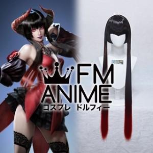 Tekken 7 Eliza Black Red Cosplay Wig