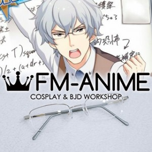 THE iDOLM@STER: SideM Michio Hazama Silver Glasses Cosplay Accessories