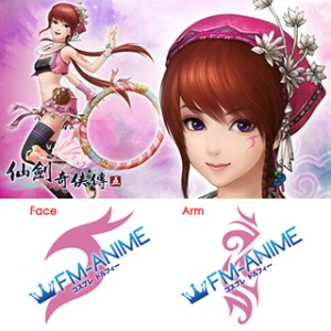 Chinese Paladin / The Legend of Sword and Fairy 5 Xiao Man Cosplay Tattoo Stickers