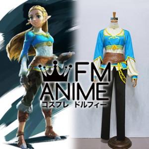 The Legend of Zelda: Breath of the Wild Princesa Zelda Cosplay Costume with Accessories