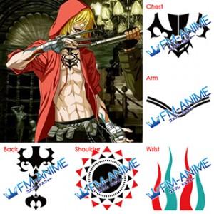True Blood Gunji Cosplay Tattoo Stickers