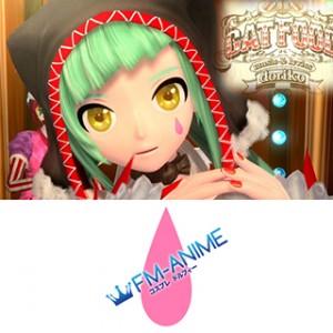 Vocaloid Hatsune Miku Cat Food Cosplay Tattoo Stickers