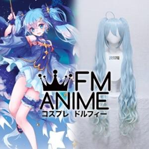 Vocaloid Hatsune Miku Snow Miku 2017 Cosplay Wig