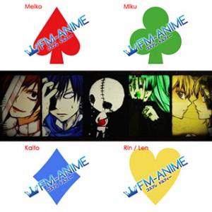 Vocaloid Meiko / Miku / Kaito / Len / Rin Hitobashira Alice Cosplay Tattoo Stickers