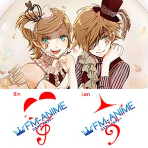 Vocaloid Kagamine Len & Rin Circus Cosplay Tattoo Stickers