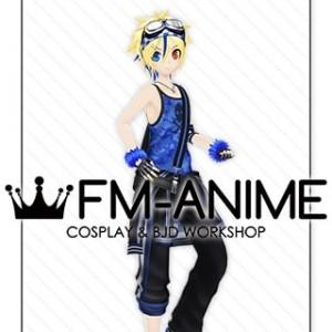 Vocaloid Kagamine Len Burning Stone Lightning Stone Punk Cosplay Costume