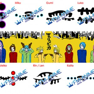 Vocaloid Gackpoid / Miku / Gumi / Luka / Meiko / Rin / Len / Kaito Matryoshka Cosplay Tattoo Stickers