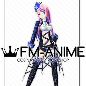 Vocaloid Megurine Luka Burning Stone Lightning Stone Punk Cosplay Costume