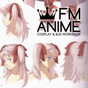 Wild Arms 4 Raquel Applegate Pink Cosplay Wig