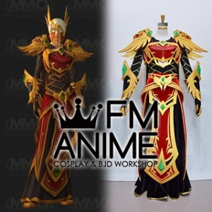 World of Warcraft The Blood Elf Heritage Armor Female Cosplay Costume
