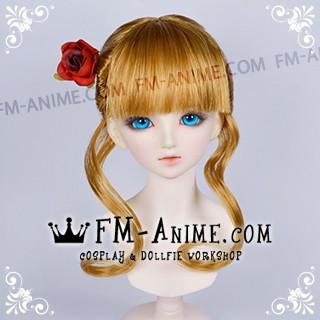 Umineko no Naku Koro ni Beatrice Mixed Gold Brown Cosplay BJD Dolls Wig