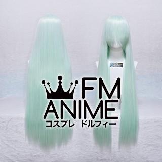100cm Medium Length Straight Light Green Cosplay Wig