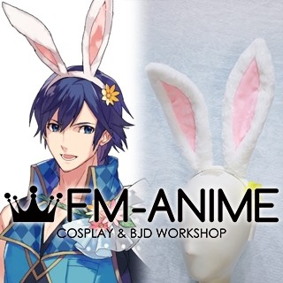 Fire Emblem Heroes Chrom Spring Festival Rabbit Bunny Ears Headband White Pink Cosplay Accessory Prop