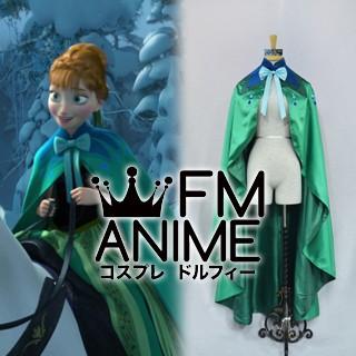 Frozen (Disney 2013 film) Anna Coronation Green Cloak Cosplay Costume