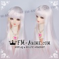 Long Straight Neat Bangs Cloud Pink BJD Dolls Wig