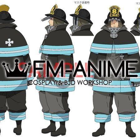 Fm Anime Fire Force Akitaru Obi Cosplay Costume