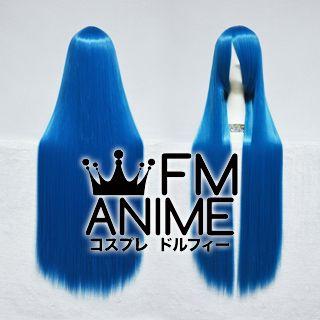 100cm Medium Length Straight Cerulean Blue Cosplay Wig