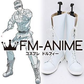 Cells at Work! White Blood Cell U-1146 Neutrophil White Cosplay Shoes Boots