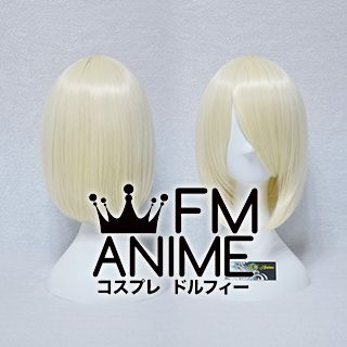 Short Straight Bob Light Gold Cosplay Wig