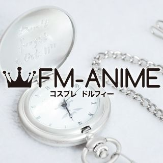 Fullmetal Alchemist Edward Elric Silver Pocket Watch Cosplay Accessory Prop