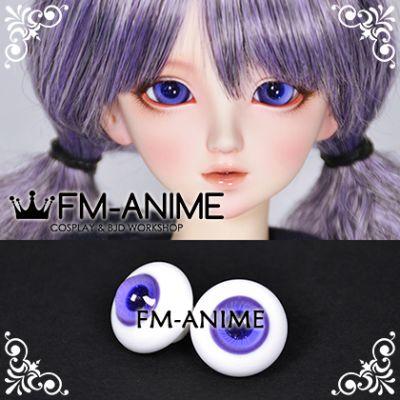 16mm Purple Spiral & Dark Blue Shiny Pupil BJD Dolls Glass Eyes Eyeballs Accessories