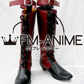 Black Butler Ciel Phantomhive Red Cosplay Shoes Boots