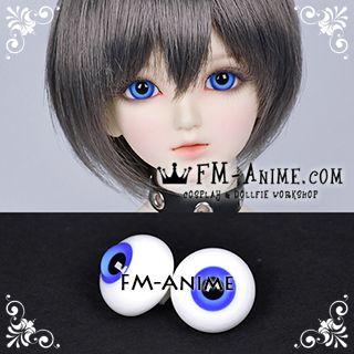 14mm / 16mm Dark Blue & Black Pupil BJD Dolls Glass Eyes Eyeballs Accessories