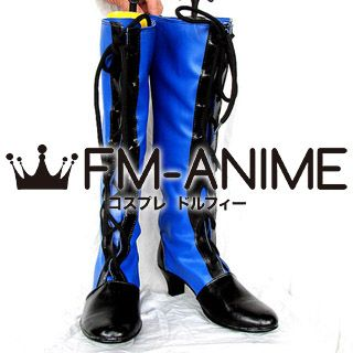 Black Butler Ciel Phantomhive Blue Cosplay Shoes Boots