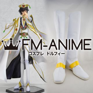 Code Geass: Lelouch of the Rebellion R2 Lelouch Lamperouge Cosplay Shoes Boots