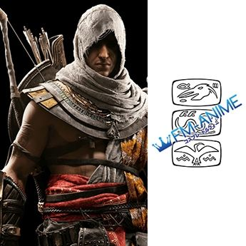 Assassin's Creed Bayek Cosplay Tattoo Stickers