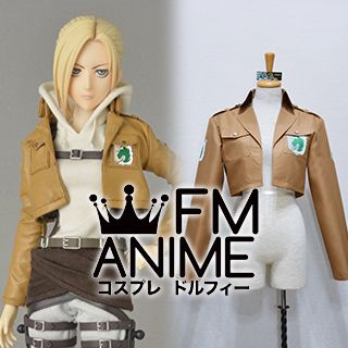 Attack on Titan Annie Leonhart Military Police Brigade Corps Coat Jacket Cosplay Costume