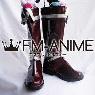 D.Gray-man Allen Walker Cosplay Shoes Boots (Silver, Brown)