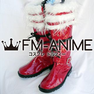 Blue Exorcist Rin Okumura Cosplay Shoes Boots (Patent Leather)