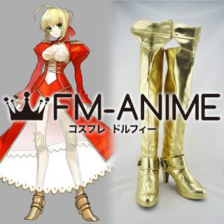 Fate/Extra Saber Nero Claudius Cosplay Shoes Boots