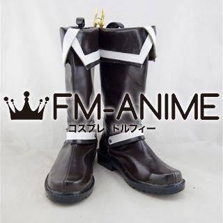 D.Gray-man Allen Walker Dark Brown Cosplay Shoes Boots