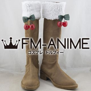 Vocaloid Hatsune Miku 2015 Snow Version Cosplay Shoes Boots