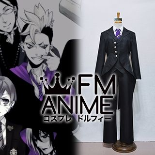 Black Butler Cheslock Purple Weston College School Uniform Cosplay Costume (Female L)