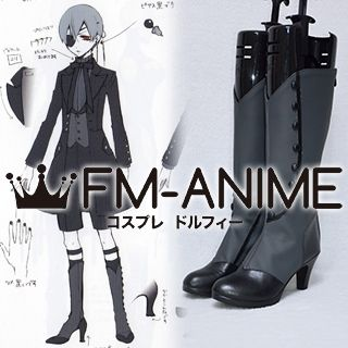 Black Butler Ciel Phantomhive Black Devil Cosplay Shoes Boots